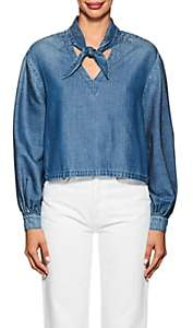 Frame Women's Chambray Long-Sleeve Top - Blue