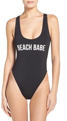Women's The Bikini Lab Beach Babe One-Piece Swimsuit $58 thestylecure.com