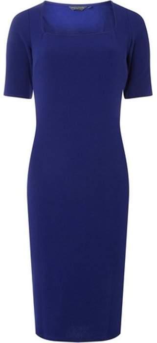 Womens **Tall Cobalt Blue Square Neck Tube Pencil Dress