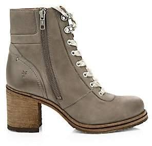 Frye Women's Karen Shearling & Leather Hiking Boots
