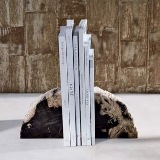 west elm Petrified Wood Bookends (Set of 2)