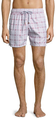 Retromarine Guillauche Eye Printed Swim Trunks, Red $155 thestylecure.com