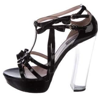 Emilio Pucci Bow-Embellished Platform Sandals