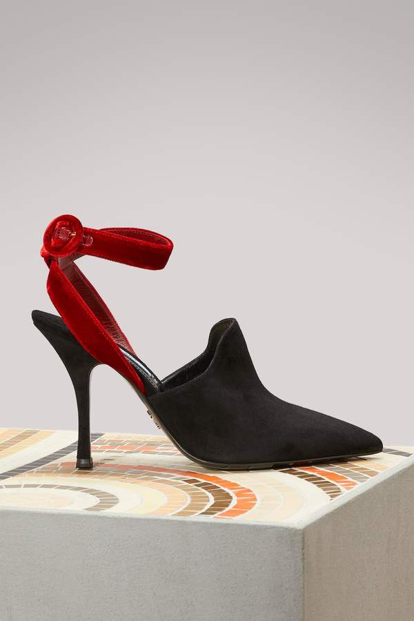 Prada Bicolore open back sandals