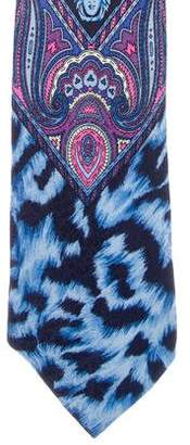 Versace Medusa Printed Silk Tie