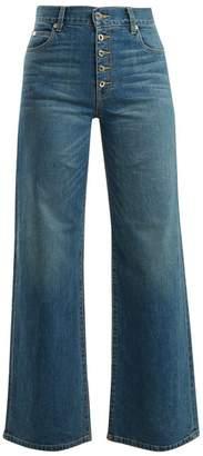 Eve Denim - Charlotte High Rise Wide Leg Jeans - Womens - Mid Blue