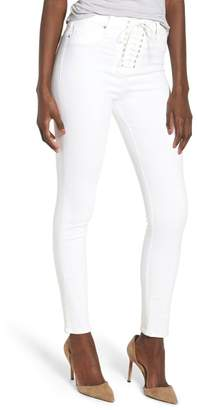 575083d2103 Hudson Jeans Bullocks Lace-Up High Waist Super Skinny Jeans (Optical White)