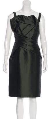 Redux Charles Chang-Lima Silk-Blend Cocktail Dress green Silk-Blend Cocktail Dress