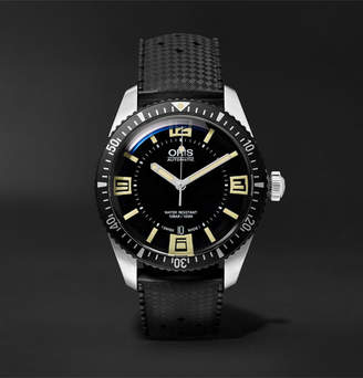 Oris Divers Heritage Sixty-Five 40mm Stainless Steel And Rubber Watch