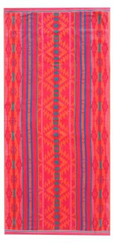 Striped XL Beach Towel Orange Zing