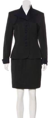 Christian Dior Knee-Length Skirt Suit Black Knee-Length Skirt Suit