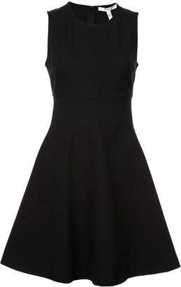 Derek Lam 10 Crosby Sleeveless Fit & Flare Dress with Corset Waist