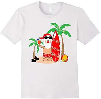 Santa Claus Surfing Hawaiian Shirt Summer Christmas Outfit