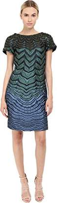 Alberta Ferretti Women's Short Sleeve Zigzag Dress