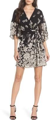 French Connection Elise Satin Faux Wrap Dress