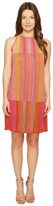 M Missoni Multicolor Plisse Sleeveless Dress Women's Dress