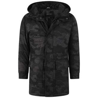 Antony Morato Antony MoratoBlack Patterned Coat With Hood