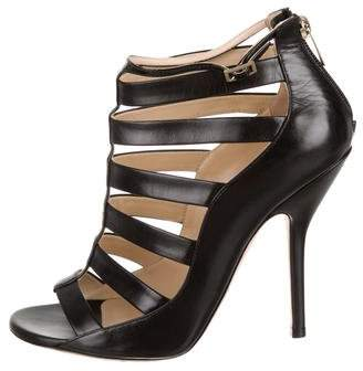 Jimmy Choo Leather Cage Booties