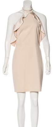 Alice + Olivia Ruffle-Accented Cold-Shoulder Dress