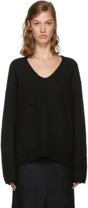 Acne Studios Black V-Neck Deborah Sweater $380 thestylecure.com
