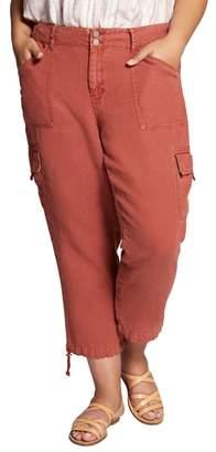 Sanctuary Terrain Crop Linen Cargo Pants