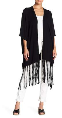Cupcakes And Cashmere Alisa Poncho Tassel Sweater