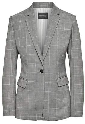 Banana Republic Long and Lean-Fit Washable Wool Blend Blazer