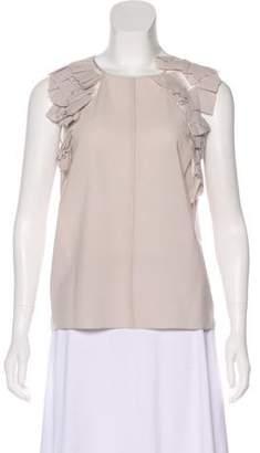 Nina Ricci Wool Ruffled Top