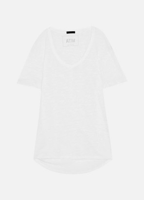 ATM Anthony Thomas Melillo Boyfriend Slub Cotton-jersey T-shirt - White