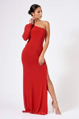 Club L **Slinky One Shoulder Maxi Dress
