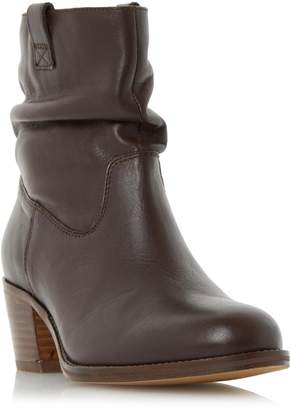Roberto Vianni LADIES POLITT - Ruched Detail Block Heel Ankle Boot