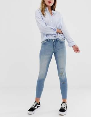 JDY Flora ripped skinny jeans