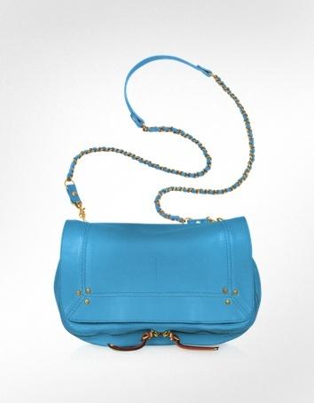 Jerome Dreyfuss Bobi - Blue Leather Shoulder Bag