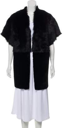 Pologeorgis Shearling Cap Sleeve Vest