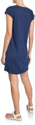 Lilla P Curved-Hem Slub Jersey Dress