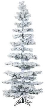 Fraser Hill Farms Hillside Slim Smart String Lighting Flocked Pine Christmas Tree- 7.5 ft.