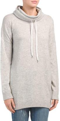 Drawstring Cowl Neck Sweater