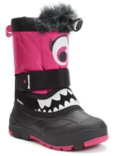 Superfit Maxeye Toddler Girls' Waterproof Winter Boots $70 thestylecure.com
