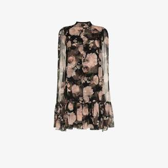 Erdem Constantine rose print silk dress