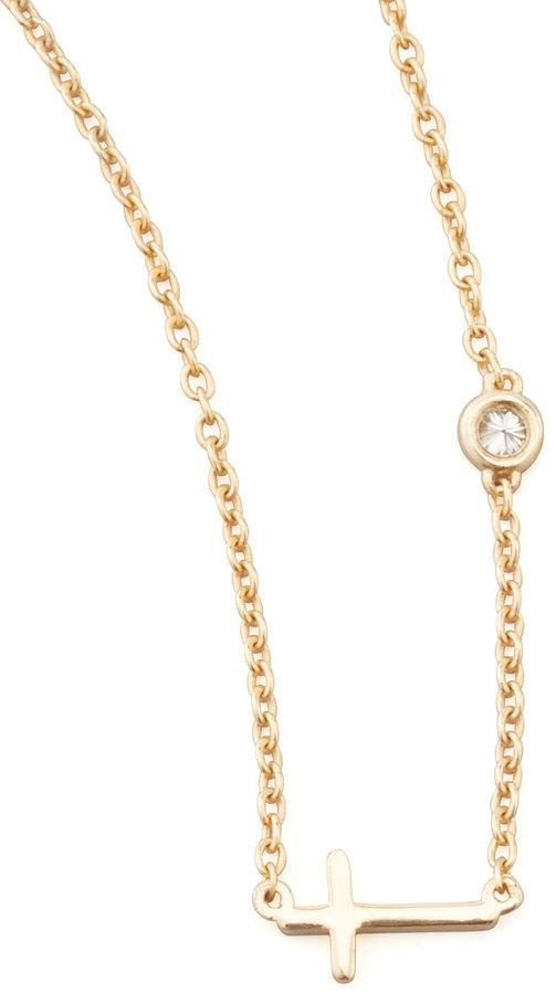Sydney Evan SHY by Cross & Single-Diamond Necklace