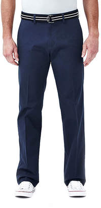 Haggar Straight-Fit Stretch Belted Pants