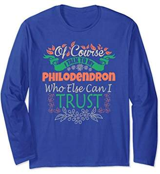 Novel Philodendron Long Sleeve Tee for Gardeners