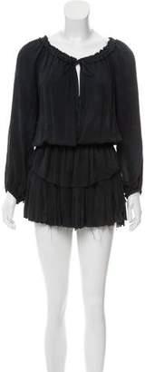 LoveShackFancy Tiered Silk Dress