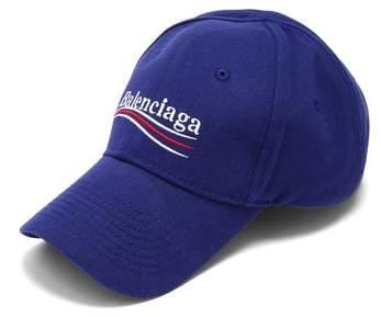 967ba9b547d Balenciaga Logo Embroidered Cotton Cap - Womens - Navy - ShopStyle Hats