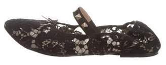 Valentino Rockstud Lace Ballet Flats