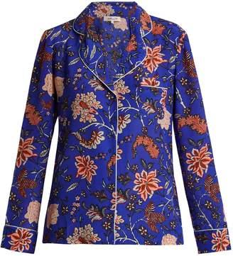 Diane von Furstenberg Floral-print silk crepe de Chine pyjama shirt
