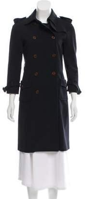 Miu Miu Double-Breasted Knee-Length Coat