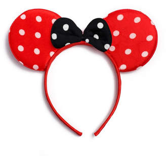 Riah Fashion Minnie-Mouse Polka-Dot Bow-Headband