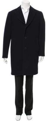 Etro Wool Notch-Lapel Overcoat