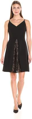 Maggy London Women's Dream Crepe Fit and Flare with Feminine Lace
